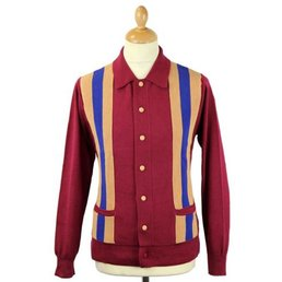 David Watts UNION CARDIGAN MAROON XL