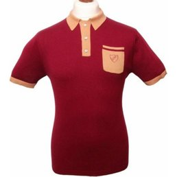 David Watts Berkeley Polo Shirt MAROON XXL