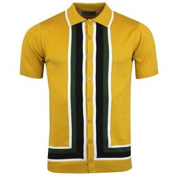 Madcap England SCREAMIN' JAY SQUARE STRIPE POLO