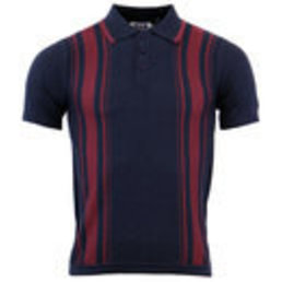 Madcap England AFTERMATH  STRIPE PANEL KNITTED POLO