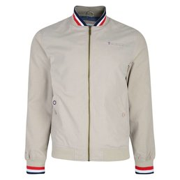 Lambretta Striped Collar Bomber Jacket