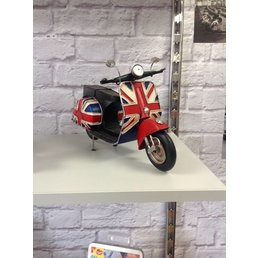 Scooter Specialist N.I. Classic Vespa model, union jack sidepanel