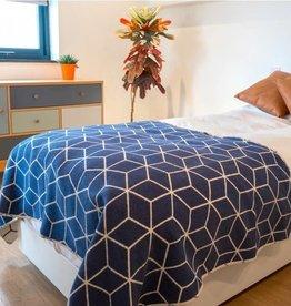 Atlantic Blankets Navy Geometric Throw 160 x 100cm