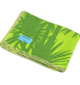 Atlantic Blankets Green Cornish Palms Blanket 75x100cm