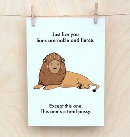 Objectables Lions are Noble card