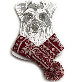 Mutts & Hounds Snowflake Dog Scarf - M/L