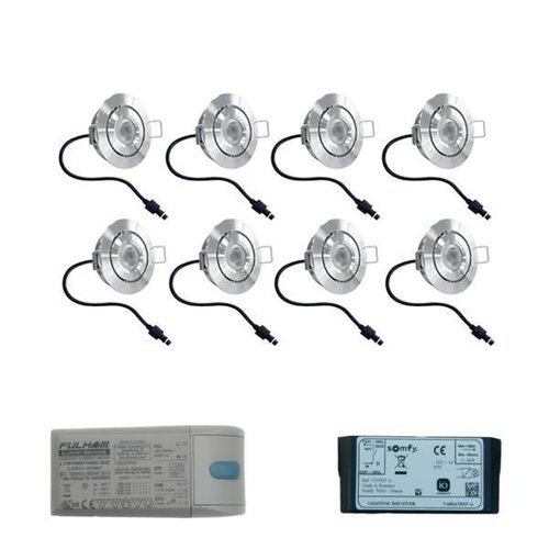 Somfy Lavanto LED inbouwspots 8x3W voor Somfy IO