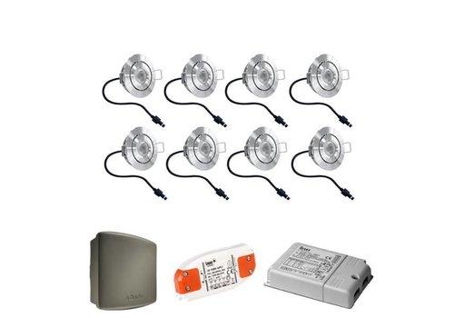 Lavanto LED Einbaustrahler Set 8x3W Somfy RTS