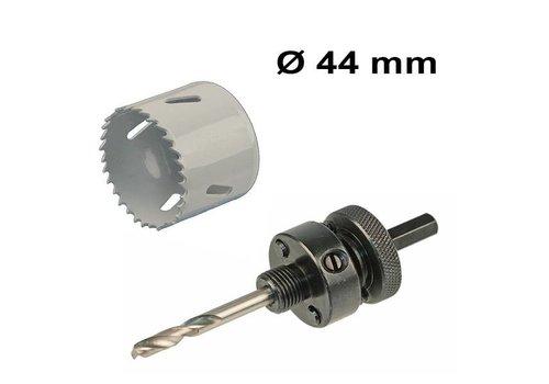Bohrlochsäge Set Ø 44 mm Bi-Metall