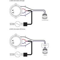 Draadloze LED Ontvanger maximaal 100 Watt vermogen