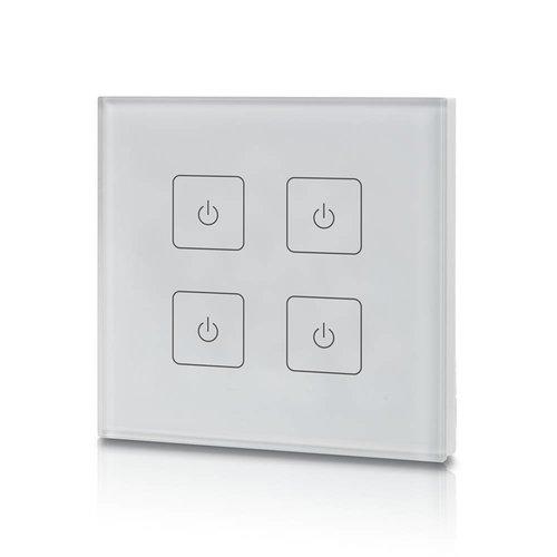 4-kanaals draadloze LED muur dimmer (Touch)