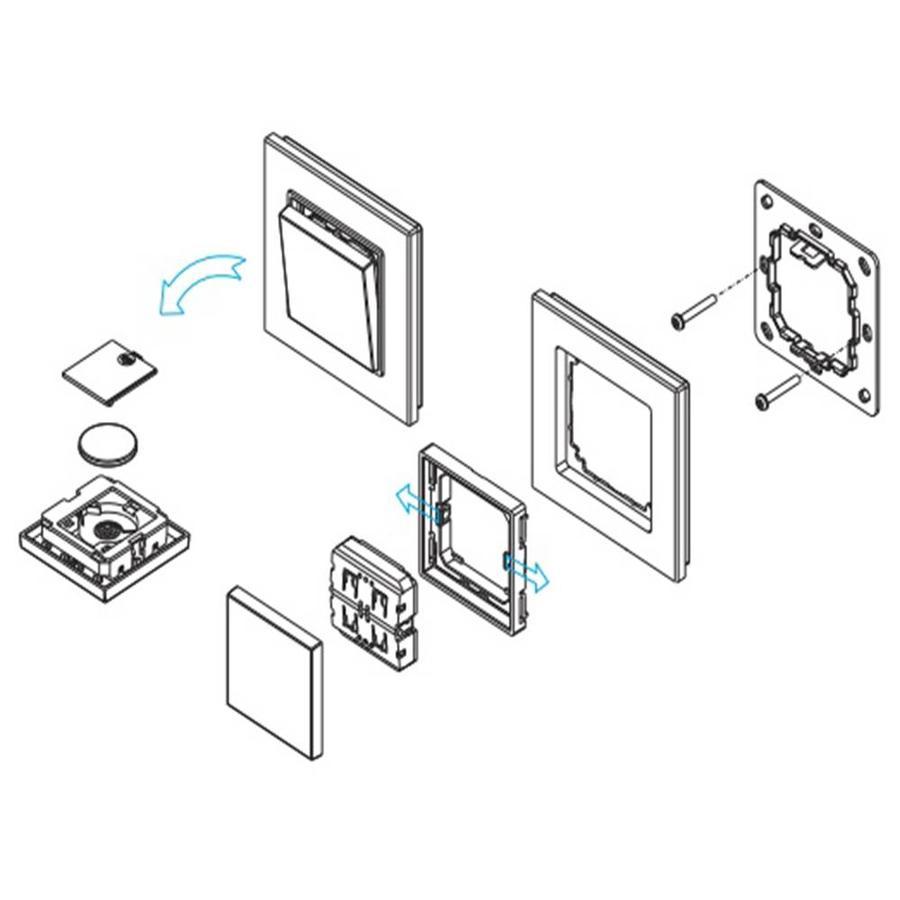 1-Kanal LED Wanddrucker mit Funksteuerung