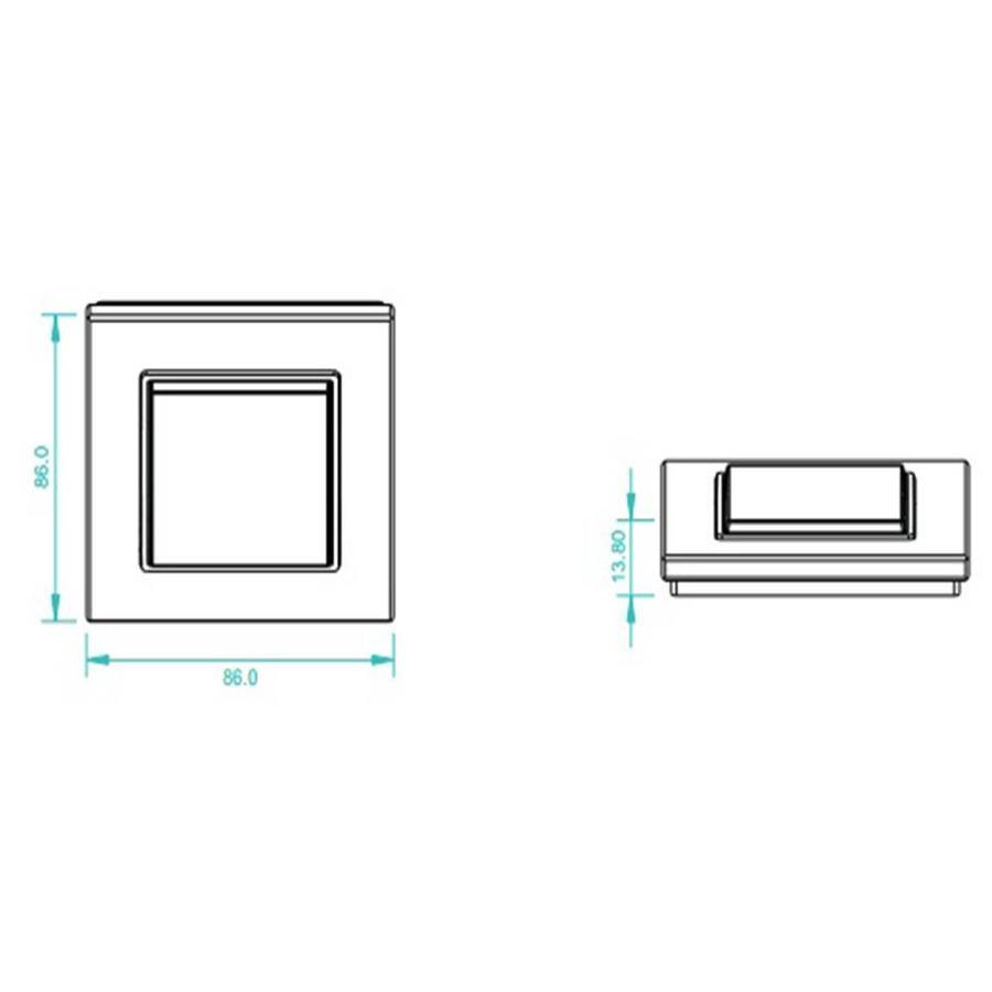 1-kanaals draadloze LED muur dimmer