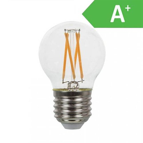 V-TAC LED filament bulb G45 with E27 fitting 4 Watt 350lm extra warm white 2700K