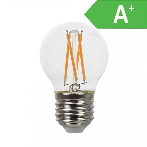led lampe filament e27 2700k 4w a intoled. Black Bedroom Furniture Sets. Home Design Ideas