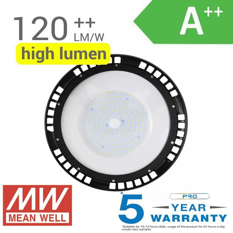 LED High Bay 150 Watt IP65 19.500lm 6400K 120° Dimmable 5 years warranty
