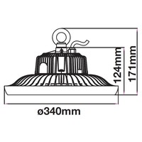 LED High Bay 150 Watt 6400K IP65 90° A++ Inkl. Meanwell Transformator