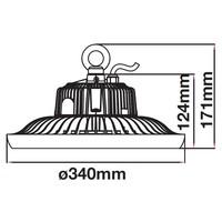 LED High Bay 150 Watt 6400K IP65 90° incl. Meanwell Transformator