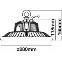 LED High Bay 100 Watt 6400K IP65 90° A++ Inkl. Meanwell Transformator