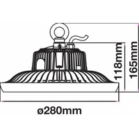 LED High Bay 100 Watt 6400K IP65 90° incl. Meanwell Transformator
