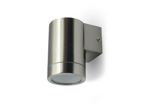 V-TAC Wand Außenleuchte Edelstahl für GU10 Strahler IP44 feuchtigkeitsfest 3 Jahre Garantie