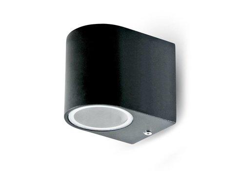 V-TAC Wand Außenleuchte Schwarz geeignet für GU10 Strahler IP44 feuchtigkeitsfest 3 Jahre Garantie
