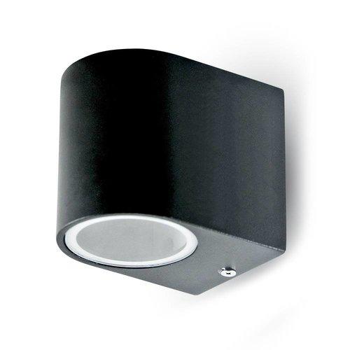 V-TAC Wandlamp zwart geschikt voor GU10 spots IP44 vochtbestendig 3 jaar garantie