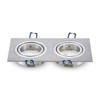 LED Einbaustrahler Houston  GU10 2x 3W 3000K Kippbar