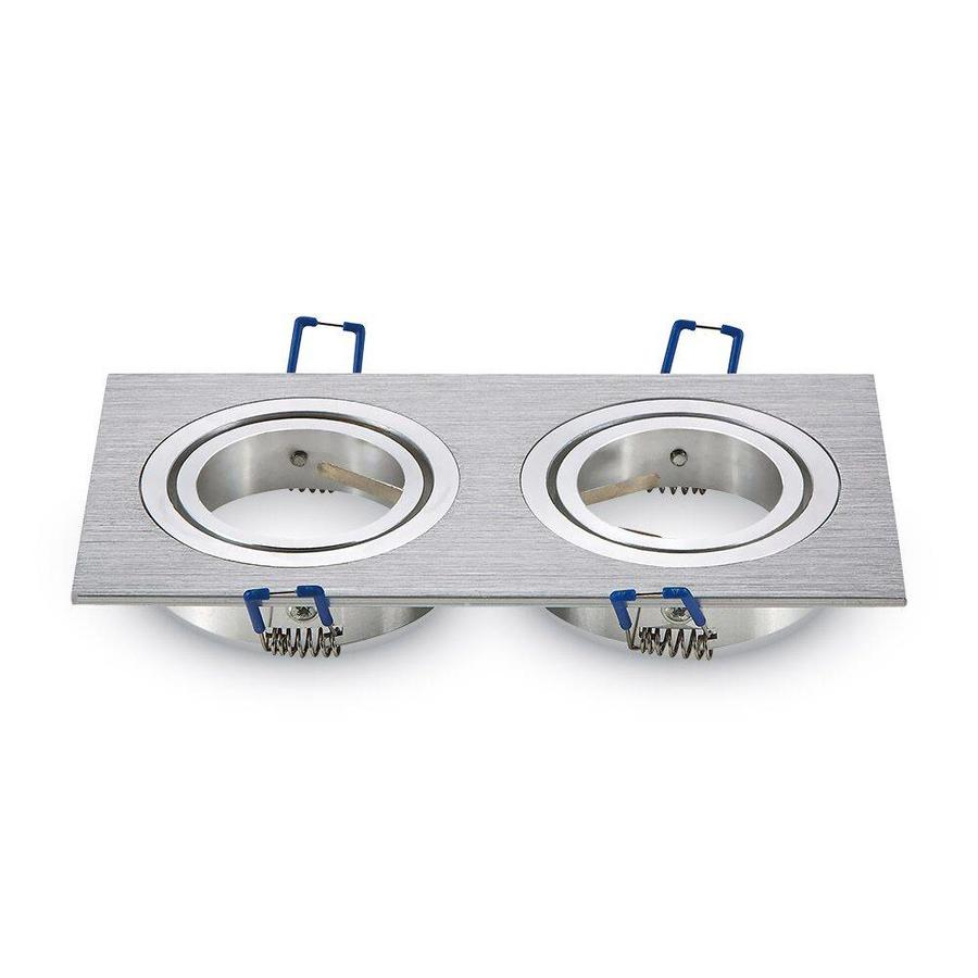 LED inbouwspot Houston 2x GU10 3W 3000K Kantelbaar