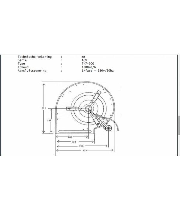 Airfan Iso Ventilatie Box 1200 m3/h