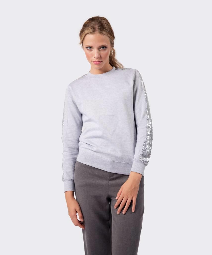 Basic L&M Sweater Grey Silver - Lewis & Melly