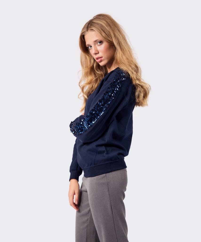 Basic L&M Sweater Dark Blue Big Blue - Lewis & Melly