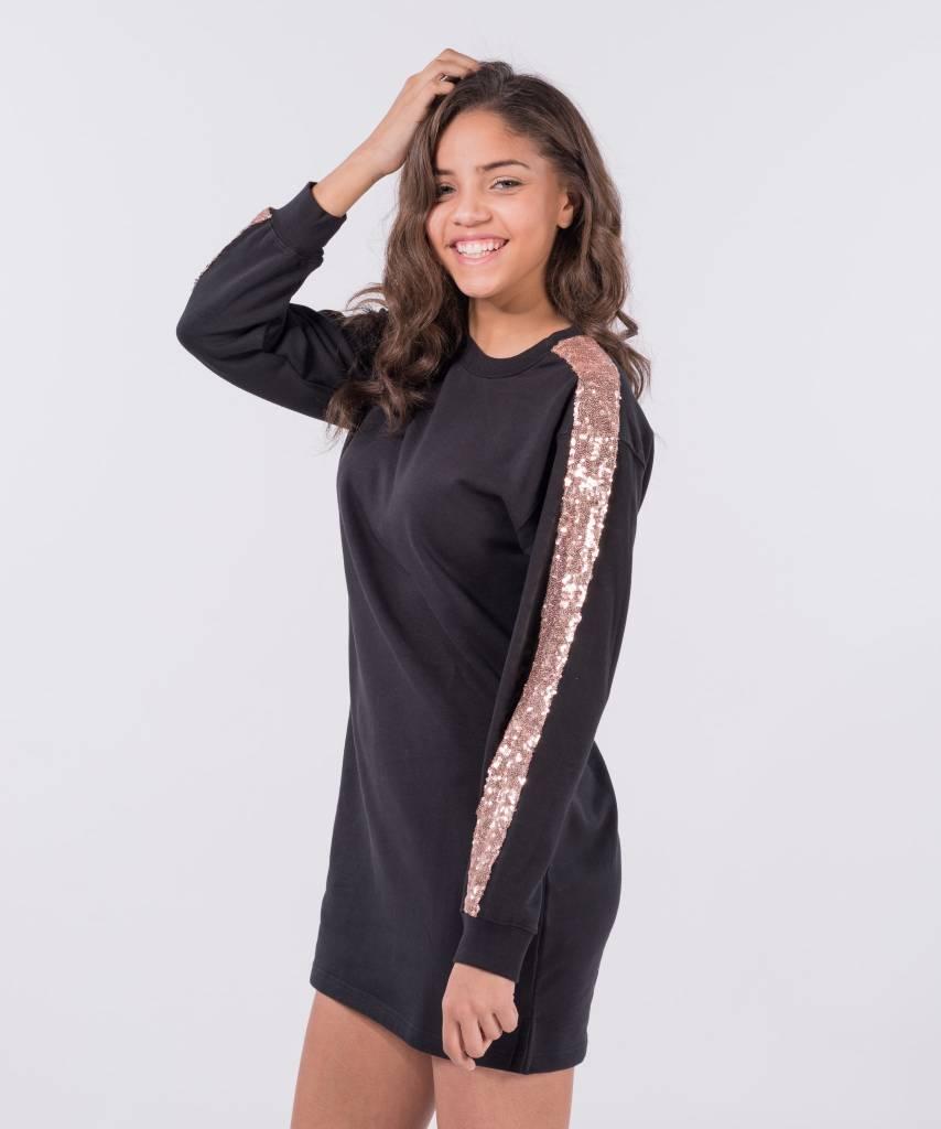 Sweater Dress Black Champagne a1b51d3f5