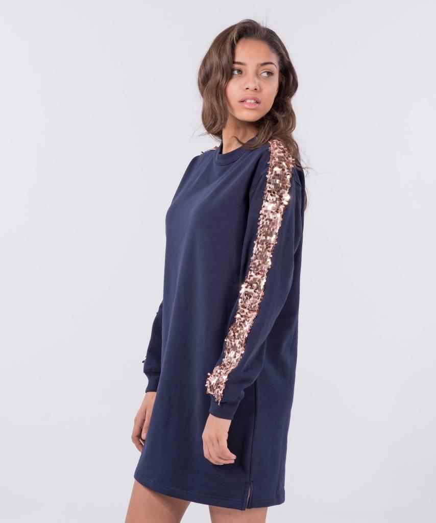 Sweater Dress Dark Blue Big Champagne e67e1e1e9