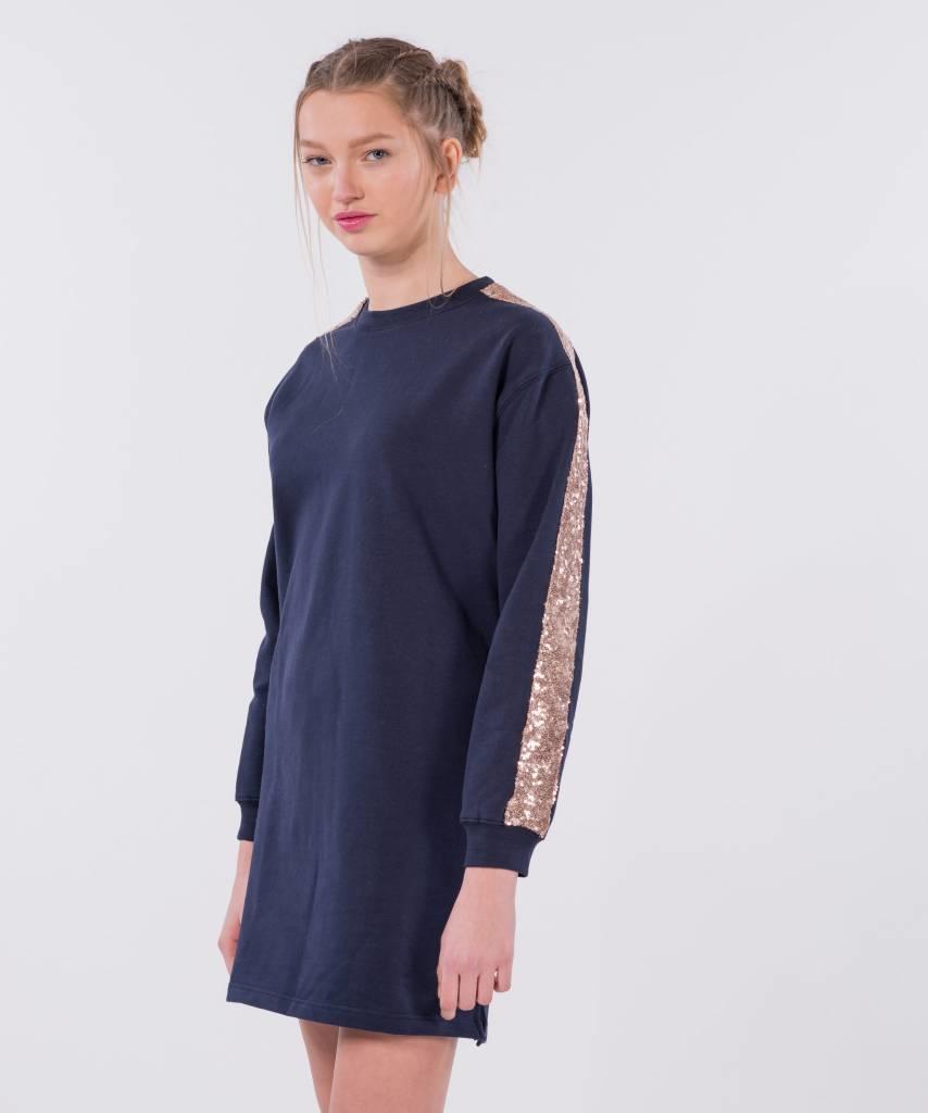 Sweater Dress Dark Blue Champagne