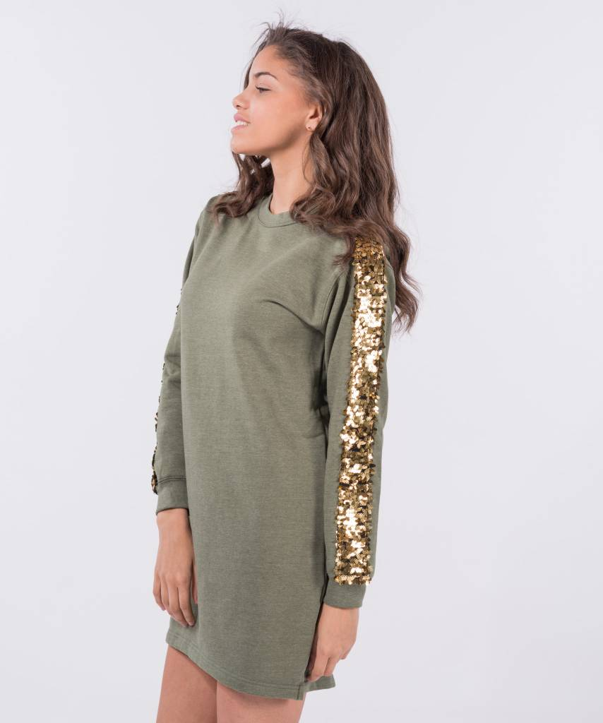Sweater Dress Khaki Big Gold e76809a00