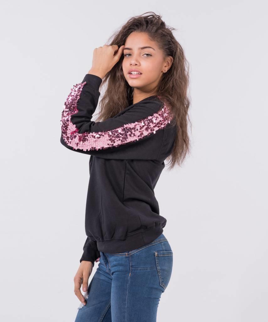 Basic L amp M Sweater Black Big Pink - Lewis  amp  Melly f1b0938a5
