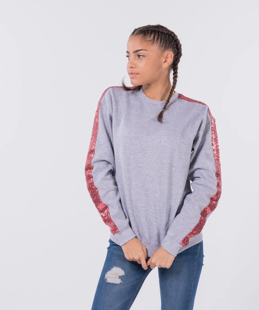 Basic L&M Sweater Grey Old Pink - Lewis & Melly