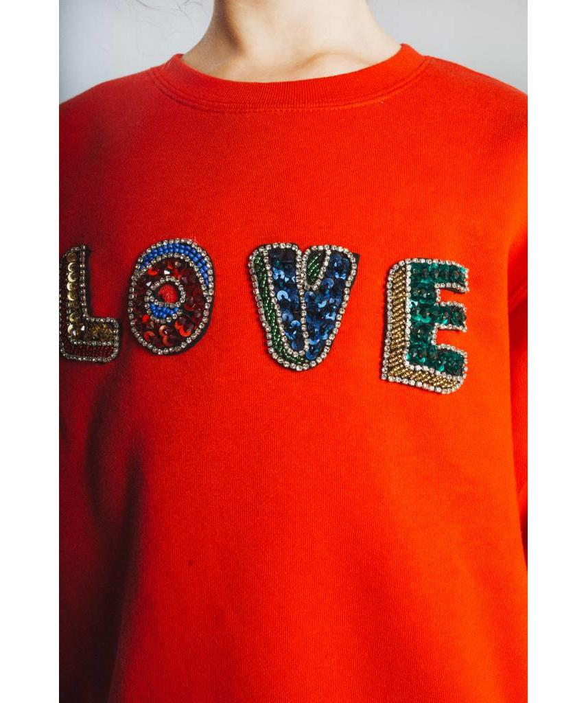 KIDS Red Love Sweater - Lewis & Melly