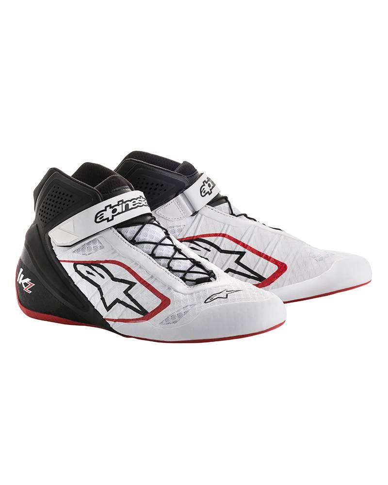 Alpinestars Chaussures Tech 1 Kx Blanc/Rouge 42 PLgom