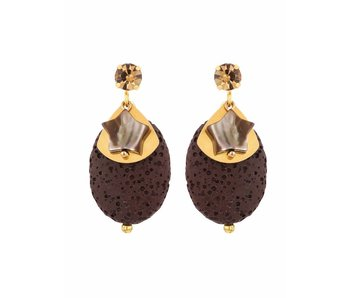 Earring Chocolate Chip