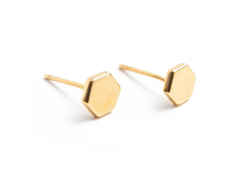 Earring gold HXGN
