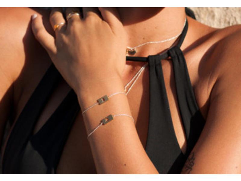 Armband Gold Bar - Heart