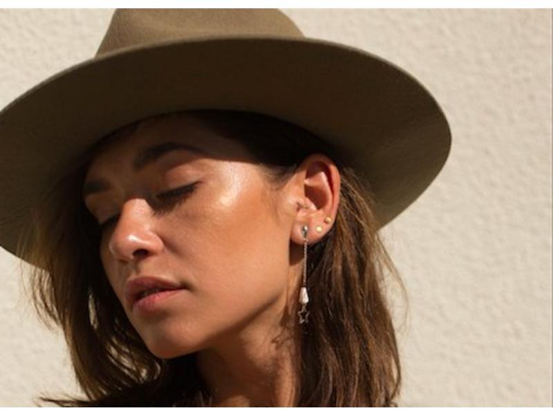 Earring gold Solar Eclipse