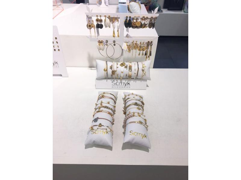 SCMYK Earring + Bracelet Display