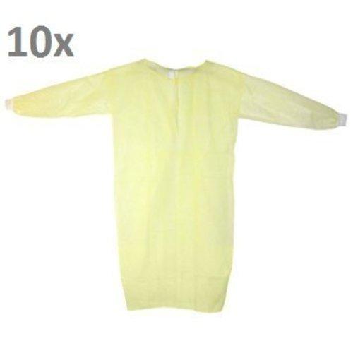 Medi-Inn Labjas geel PE laminaat MRSA beschermend 10st.
