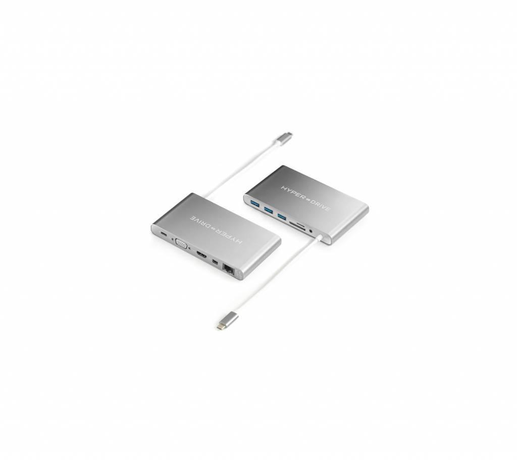 Hyper Hyper Ultimate USB-C Hub Silber