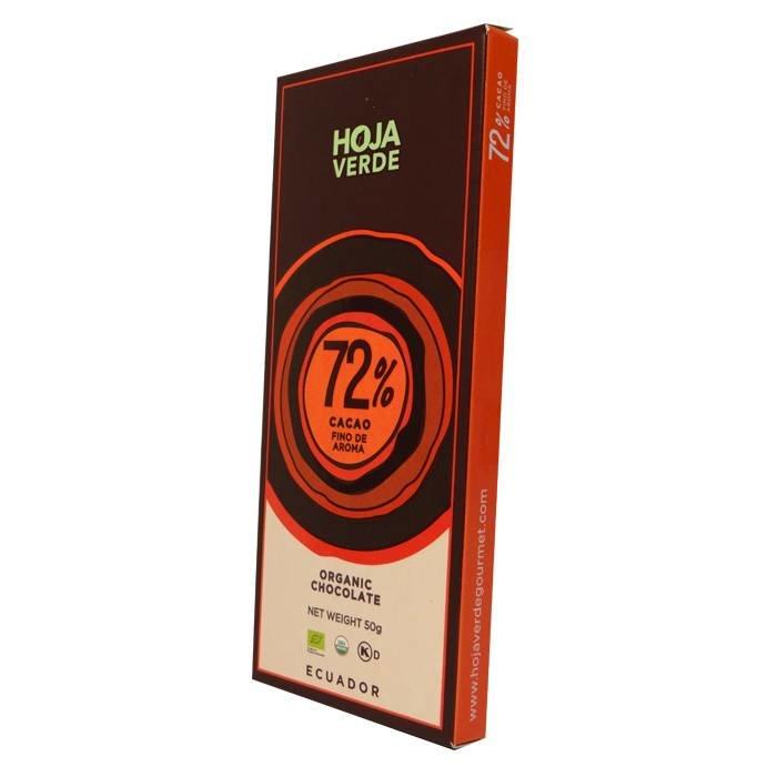72% Pure chocolade, biologisch, Kosher, 50 g