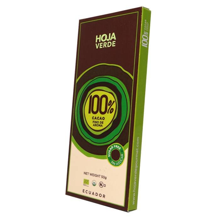 100% Pure chocolade, biologisch, Kosher, 50 g