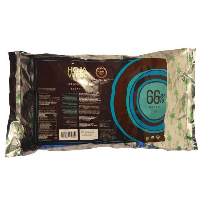 Couverture biologische 66% pure chocolade, 1 kg